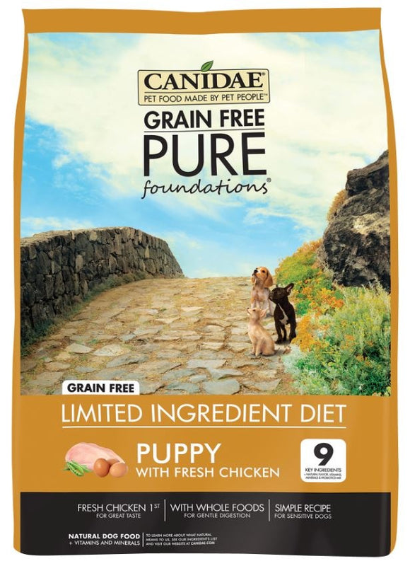 Canidae Grain Free PURE Foundations Puppy Formula Dry Dog Food