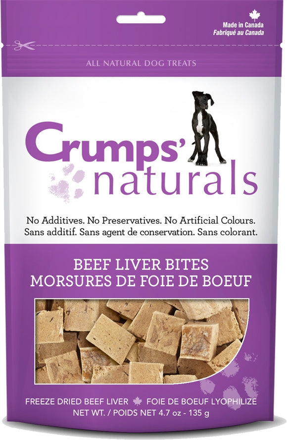 Crumps Naturals Beef Liver Bites Dog Treats