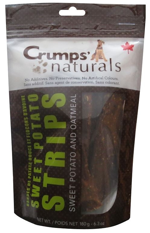 Crumps Naturals Sweet Potato Strips with Oatmeal and Citrus Fibre Dog Treats