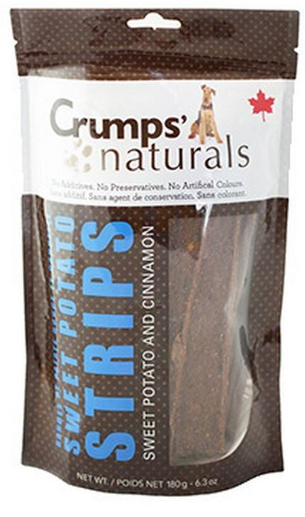 Crumps Naturals Sweet Potato Strips with Cinnamon and Citrus Fibre Dog Treats