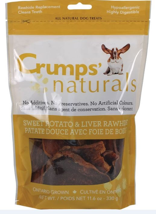 Crumps Naturals Sweet Potato and Beef Liver Dog Treats
