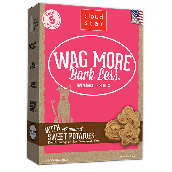 Cloud Star Wag More Bark Less Oven Baked Sweet Potatoes Dog Treats