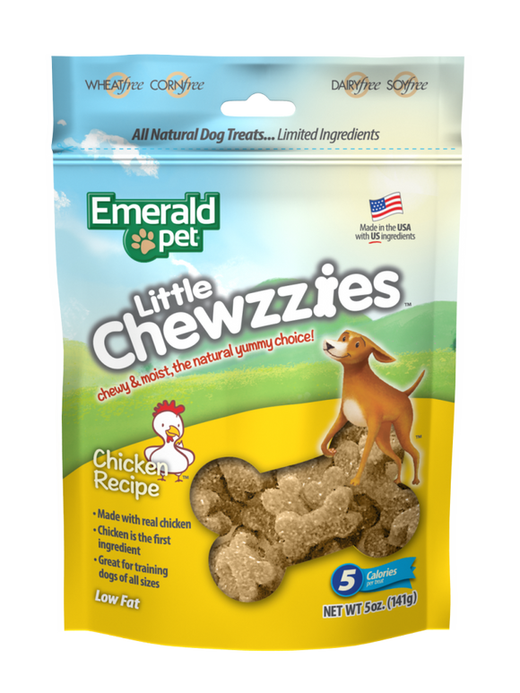 Emerald Pet Little Chewzzies Chicken Recipe Dog Treats