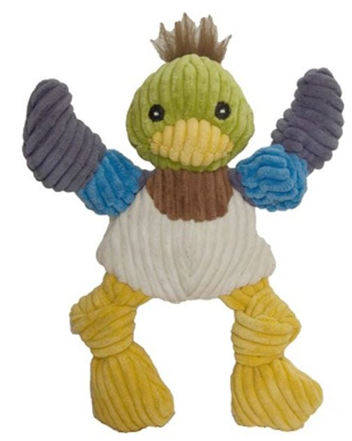 HuggleHounds Knottie Duck Dog Toy
