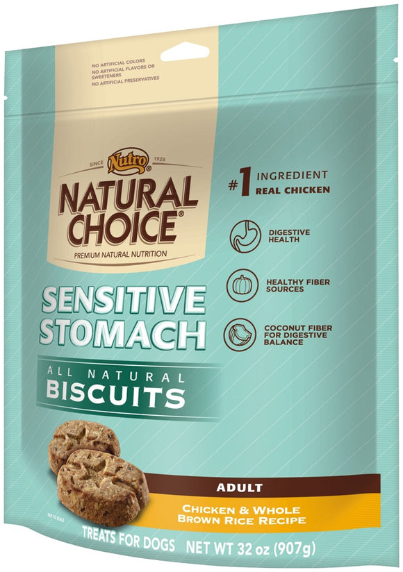 Nutro Natural Choice Adult Sensitive Stomach Chicken and Whole Brown Rice Dog Biscuits
