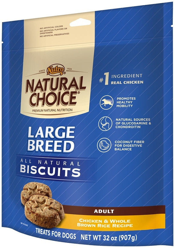 Nutro Natural Choice Adult Large Breed Chicken and Whole Brown Rice Dog Biscuits