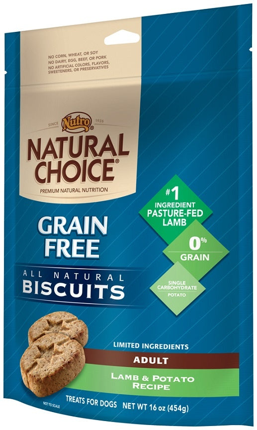 Nutro Natural Choice Grain Free Lamb and Potato Recipe Dog Biscuits