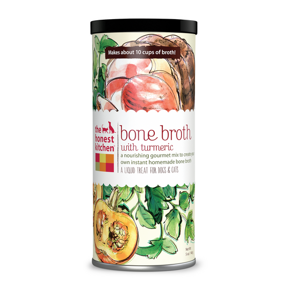 The Honest Kitchen Bone Broth with Tumeric for Cats and Dogs
