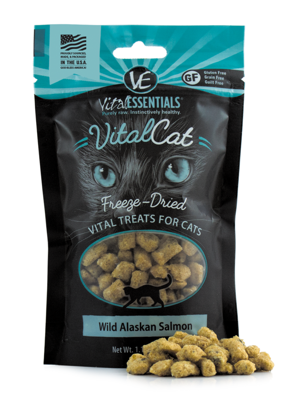 Vital Essentials Vital Cat Freeze Dried Grain Free Wild Alaskan Salmon Cat Treats