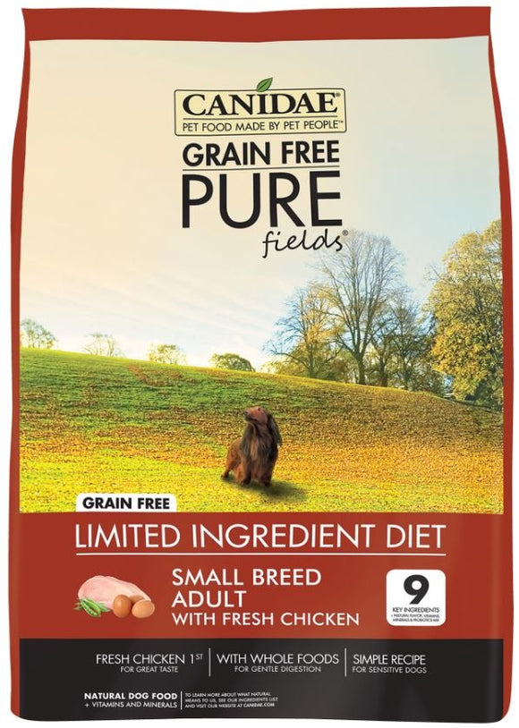 Canidae Grain Free PURE Fields with Fresh Chicken Small Breed Formula Dry Dog Food