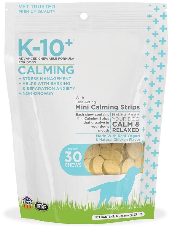 K-10+ Advanced Chewable Grain Free Calming Formula Dog Chews