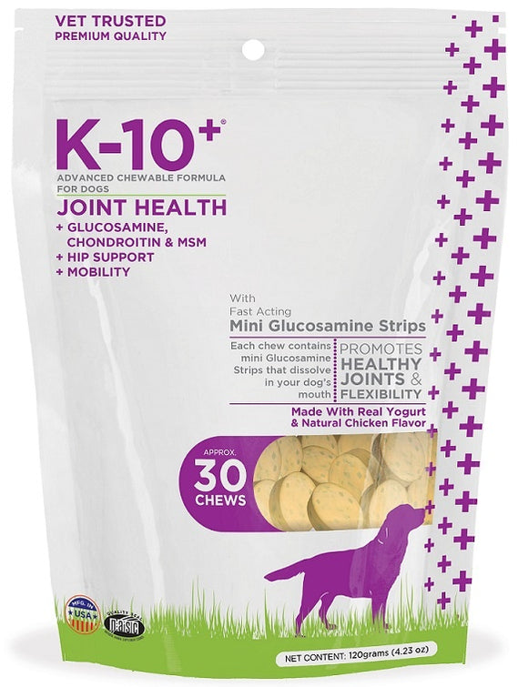 K-10+ Advanced Chewable Grain Free Joint Health Formula for Dogs
