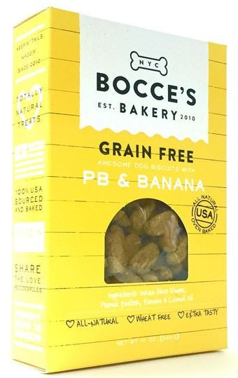 Bocce's Bakery Grain Free Peanut Butter and Banana Dog Biscuits