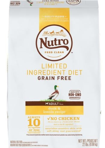 Nutro Limited Ingredient Diet Grain Free Adult Duck and Lentils Dry Dog Food