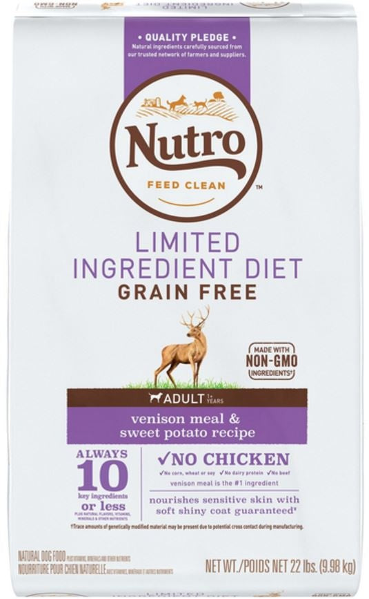 Nutro Limited Ingredient Diet Grain Free Adult Venison and Sweet Potato Dry Dog Food