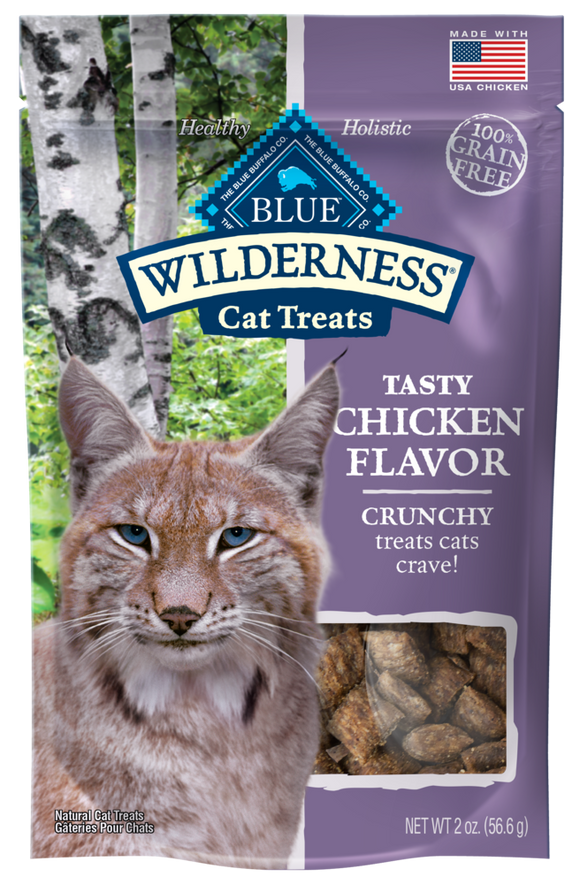Blue Buffalo Wilderness Grain Free Chicken Crunchy Cat Treats