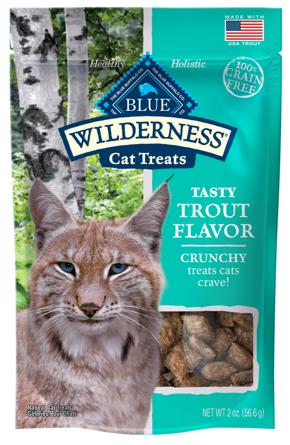 Blue Buffalo Wilderness Grain Free Trout Crunchy Cat Treats