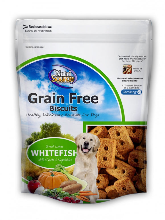 NutriSource Grain Free Whitefish Biscuits Dog Treats