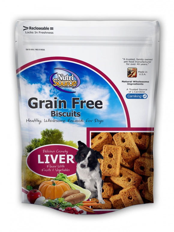 NutriSource Grain Free Liver Biscuits Dog Treats