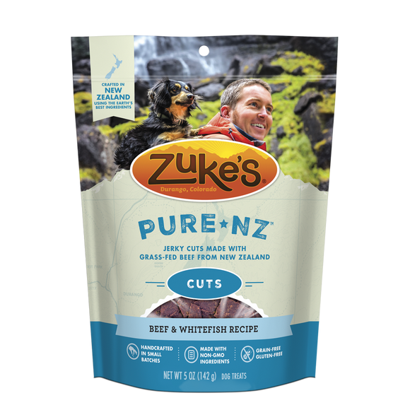 Zukes PureNZ Grain Free Beef and Whitefish Cuts Dog Treats