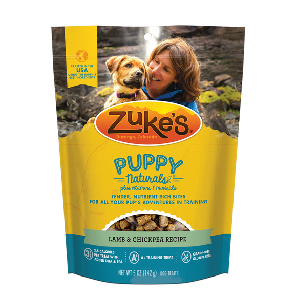 Zukes Puppy Naturals Grain Free Lamb and Chickpea Dog Treats