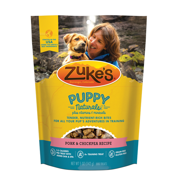 Zukes Puppy Naturals Grain Free Pork and Chickpea Dog Treats
