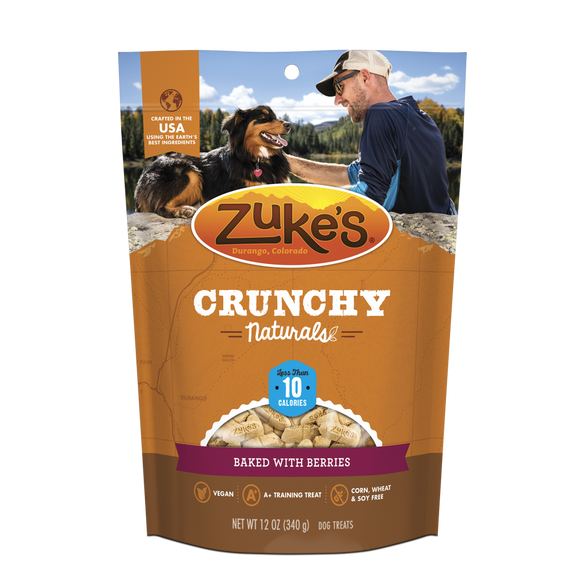 Zukes Crunchy Naturals Baked with Peanut Butter and Berries 5s Dog Treats