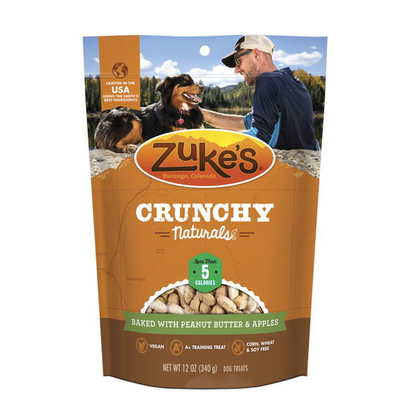 Zukes Crunchy Naturals Baked with Peanut Butter and Apples 5s Dog Treats