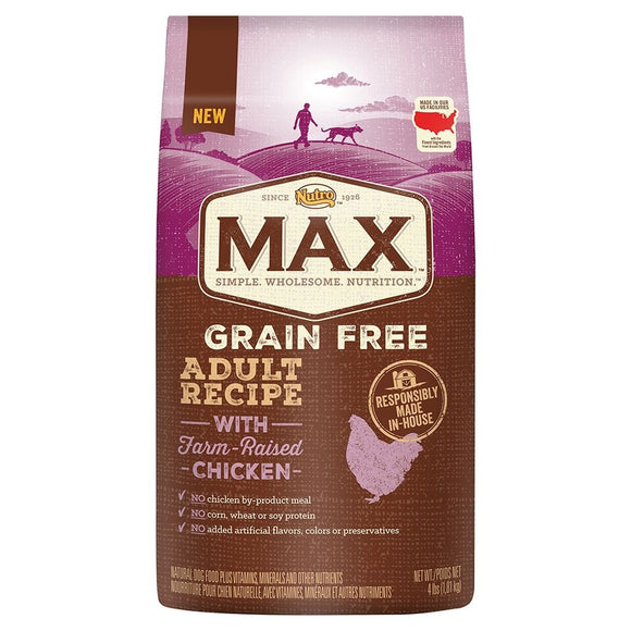 Nutro Max Adult Grain Free Recipe With Farm Raised Chicken Dry Dog Food