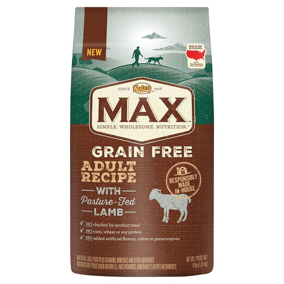 Nutro Max Adult Grain Free Recipe With Pasture Fed Lamb Dry Dog Food
