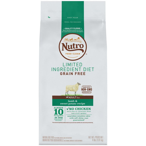 NUTRO Limited Ingredient Diet Adult Lamb & Sweet Potato Recipe Dog Food
