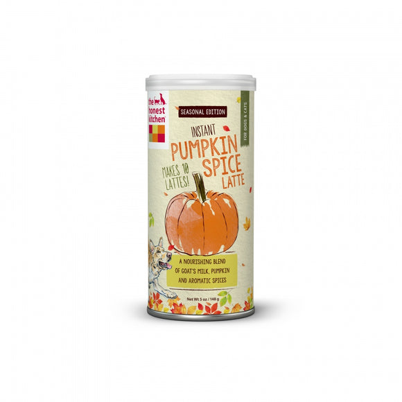 The Honest Kitchen Instant Pumpkin Spice Latte Holiday Treat for Cats and Dogs