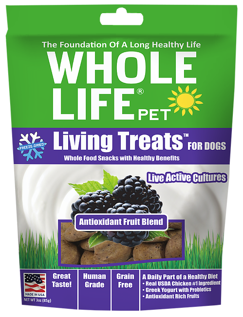 Whole Life Living Treats Grain Free Antioxidant Fruit Blend Freeze Dried Dog Treats