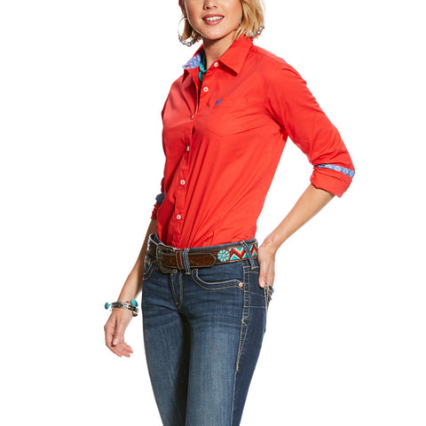 Ariat Womens Kirby Stretch Shirt Hibiscus