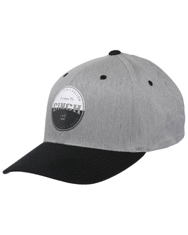 Cinch Men's Grey Raised Circle Logo Patch Flex Fit Cap