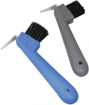 Hoof Pick with Brush - Metal
