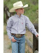 Cinch Boy's Drake Multi Check L/S Shirt