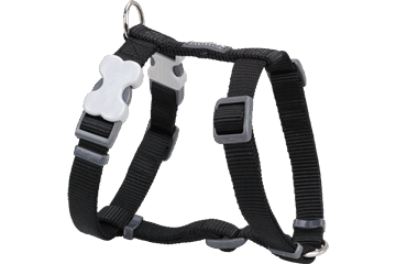 Red Dingo Dog Harness Black