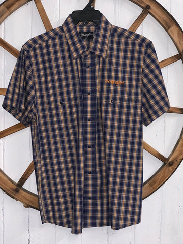 Wrangler Men's Brian Check S/S Shirt