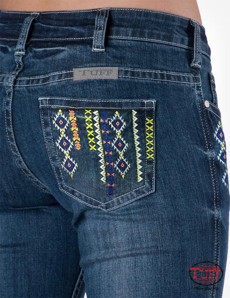 Cowgirl Tuff Jeans Aztec Mustang