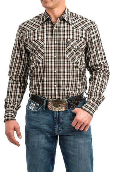 Cinch Men's Plaid Long Sleeve Shirt