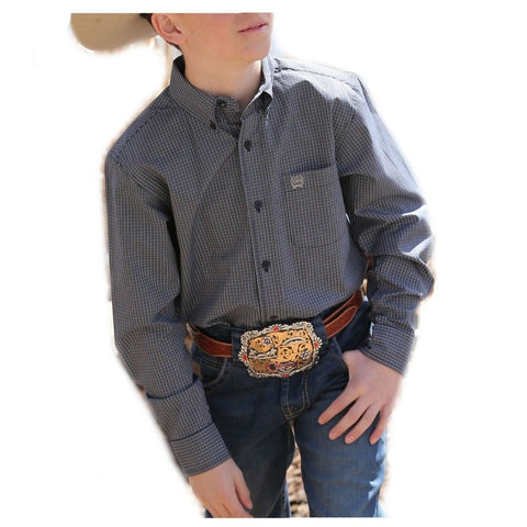 Cinch Boy's Navy Western Shirt