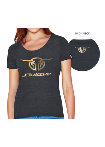 bullzye womens authentic crew neck tee