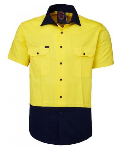 Rite Mate 2 Tone Vented Light Weight Open Front Short Sleeve Work Shirt