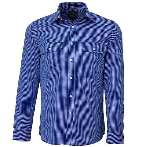 Rite Mate Men's Long Sleeve Double Pocket Shirt Royal Blue