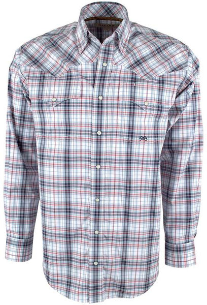 Cinch Men's Miller Red and Blue Plaid Shirt