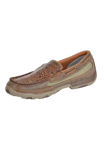 Twisted X Women's Embossed Floral Moc Slip On