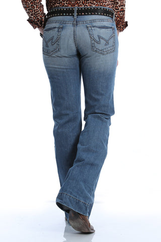 Cruel Denim Women's Jayley Trouser Jean - Light Stonewash