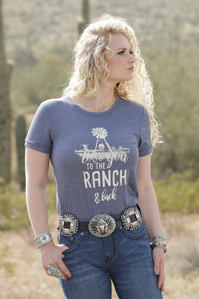 "Cruel Girl Women's ""Love You To The Ranch & Back"" Tee"