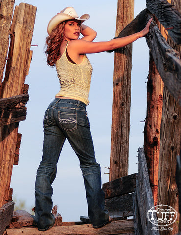 Cowgirl Tuff Don't Fence Me In Jeans